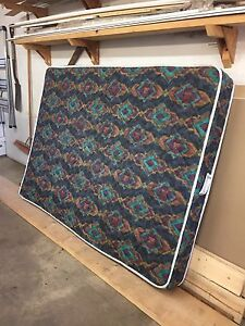 Double mattress & box spring with frame