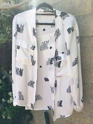 Zara Cat Blouse Medium