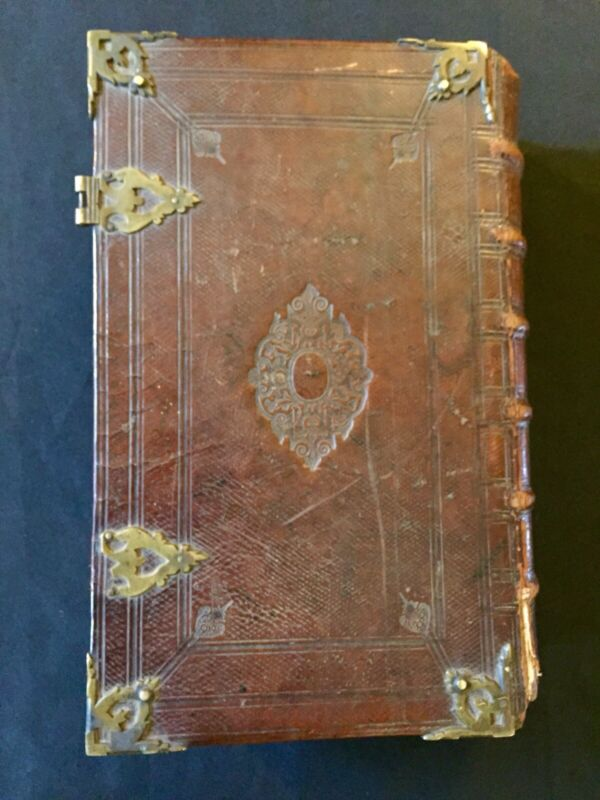 Rare 1700s Early King James Christian Bible Maps Leather Bound Circa 1715