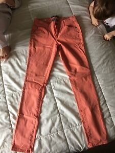 Woman's orange jeans size 5