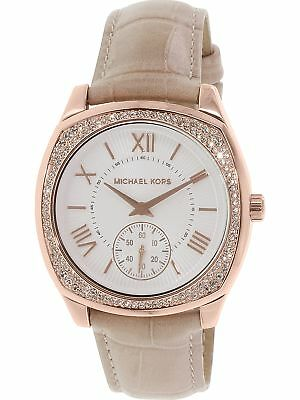 e9872c100f41 Michael Kors Women s Bryn MK2388 Rose-Gold Leather Japanese Quartz Fashion  Watch