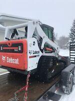 Skid steer snow clearing