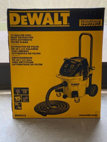 DEWALT DWV012 HEPA Dust Extractor 10 Gallon With Automatic Filter Clean NEW
