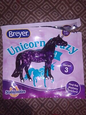 Breyer Stablemates Unicorn Crazy Series 3 Purple Chase Walmart Exclusive