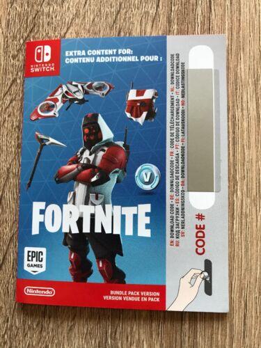 Nintendo Switch Fortnite Double Helix Skin Code, 1000 VBucks