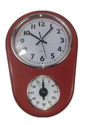 Santagi 5168 Quartz Wall Clock With Timer Retro Style