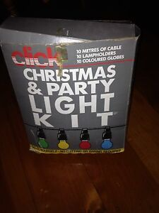 Christmas / party lights 10 meters ten  lamp holders no bulbs Goodna Ipswich City Preview