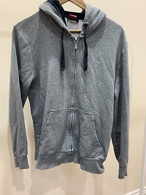 Mens Medium Puma Grey Zip Up Hoodie