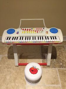 Sesame Street piano with Stand and Elmo stool
