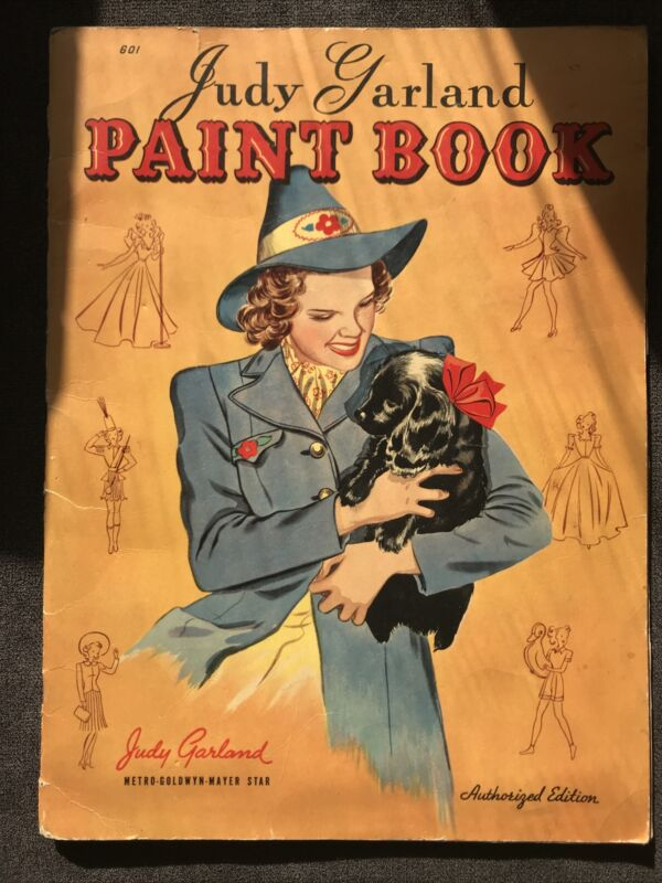 1941 Judy Garland PAINT BOOK Authorized Edition 601