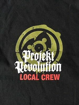 BRAND NEW Projekt Revolution Local Crew Tee Sz XL Linkin Park Rock NuMetal