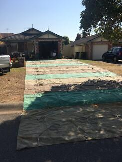 50ft x 18ft heavy duty canvas tarp..