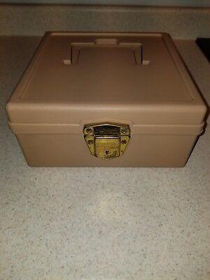Vintage Porta Check File Ballonoff Plastic Organizer Box With Original Key Nice