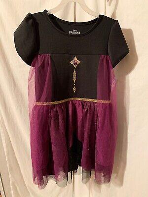 Disney Frozen 2 Girl's Size Large (10-12) Black Purple Cosplay TuTu Dress NWT
