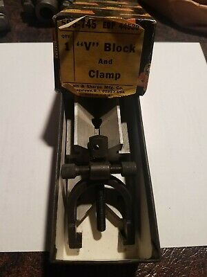 Brown Sharpe 599-745 V-block And Clamp Edp 44530 Brand New