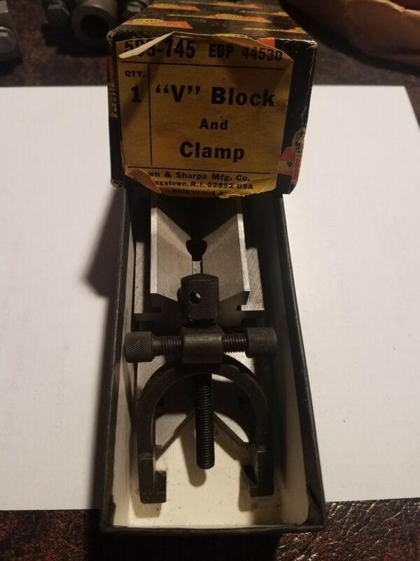 BROWN & SHARPE 599-745 V-BLOCK AND CLAMP EDP 44530 (BRAND NEW)