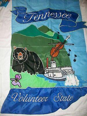 TENNESSEE VOLUNTEER STATE GARDEN FLAG RIVERBOAT NASHVILLE MUSIC SMOKY MTN BEAR