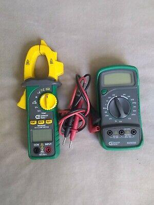 Commercial Electric Ac Clamp Meter Digital Multimeter Ac Lot Of 2