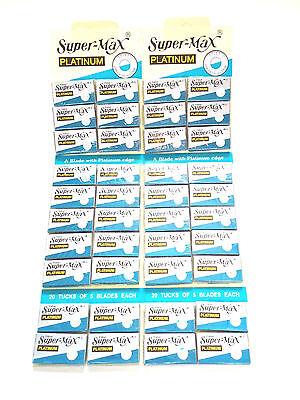 200pcs Super Max Platinum Double Edge Razor Blades Stainless