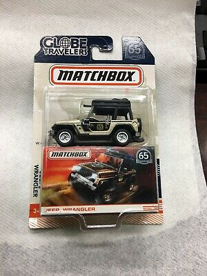 Matchbox Globe Travelers 65th Anniversary Jeep Wrangler Gold New in package 65th Anniversary Jeep Wrangler
