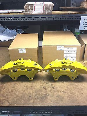 CTS-V CTSV Yellow 6 Piston Front Calipers Pair New GM 20982734 20982719 Cadillac