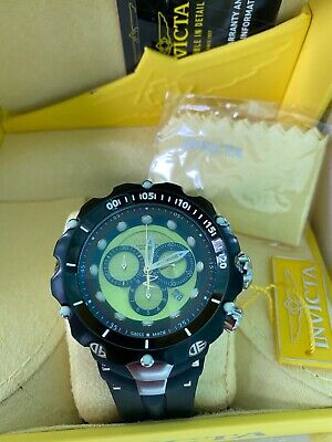 Invicta Men's RESERVE VENOM II Chron Swiss Made Black / Lime Green Dial#80739