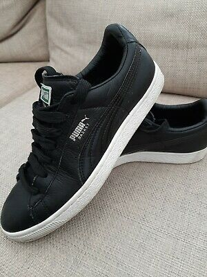 Mens PUMA BASKET black Size Uk8 Trainers