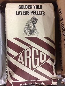 ARGO GOLDEN YOLK POULTRY LAYERS PELLETS 20KG Hens Chickens COLLECTION ONLY