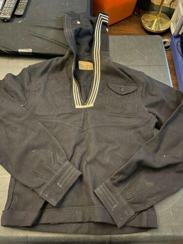 Vintage Naval Navy Sailor top Shirt 22 x 18 Naval Clothing store Military