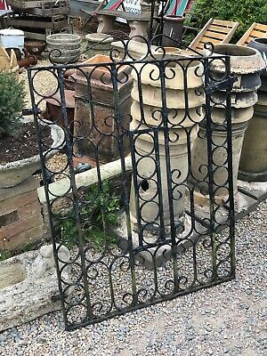Vintage Single Wrought Iron House Gate Path Driveway Garden Side 34
