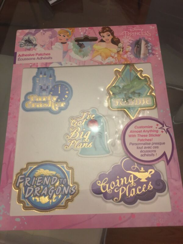 NEW IN PACKAGE DISNEY Princess Adhesive Patches Set 5 PATCHES
