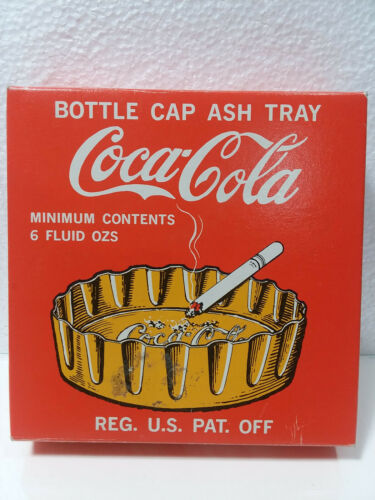 VINTAGE COCA~COLA  BOTTLE CAP ASH TRAY BRASS GOLD COLORED MADE IN JAPAN