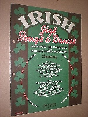 IRISH JIGS, SONGS & DANCES. SHEET MUSIC. circa 1930's. ()