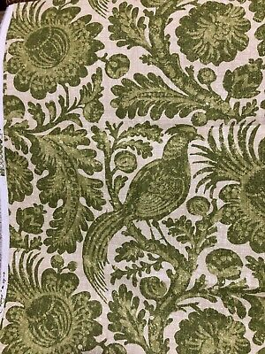 Waverly Tucker Resist Birds Floral Green Colonial Williamsburg Outdoor Fabric