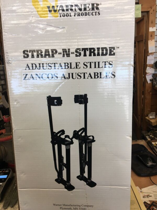 "Warner Strap N Stride 24""-40"" Adjustable Stilts Drywall Painting BRAND NEW 10771"