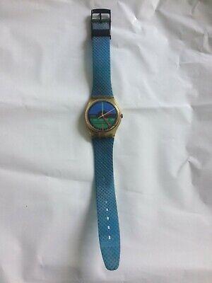 "Vintage Clear 1986 Swatch ""Nautilus"" Men's Watch - Works"