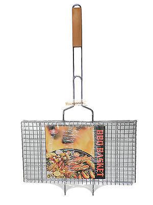 Grillkorb Grillnetz Grillgemüse Grillfisch 44cm x 25cm Grill