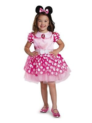 Disney Junior Pink Minnie Mouse Classic Toddler Halloween Costume, Small 2T, New