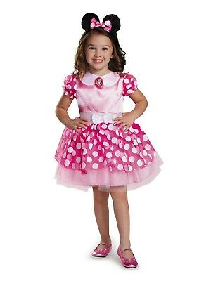 Disney Junior Pink Minnie Mouse Classic Toddler Halloween Costume, 3T/4T, New