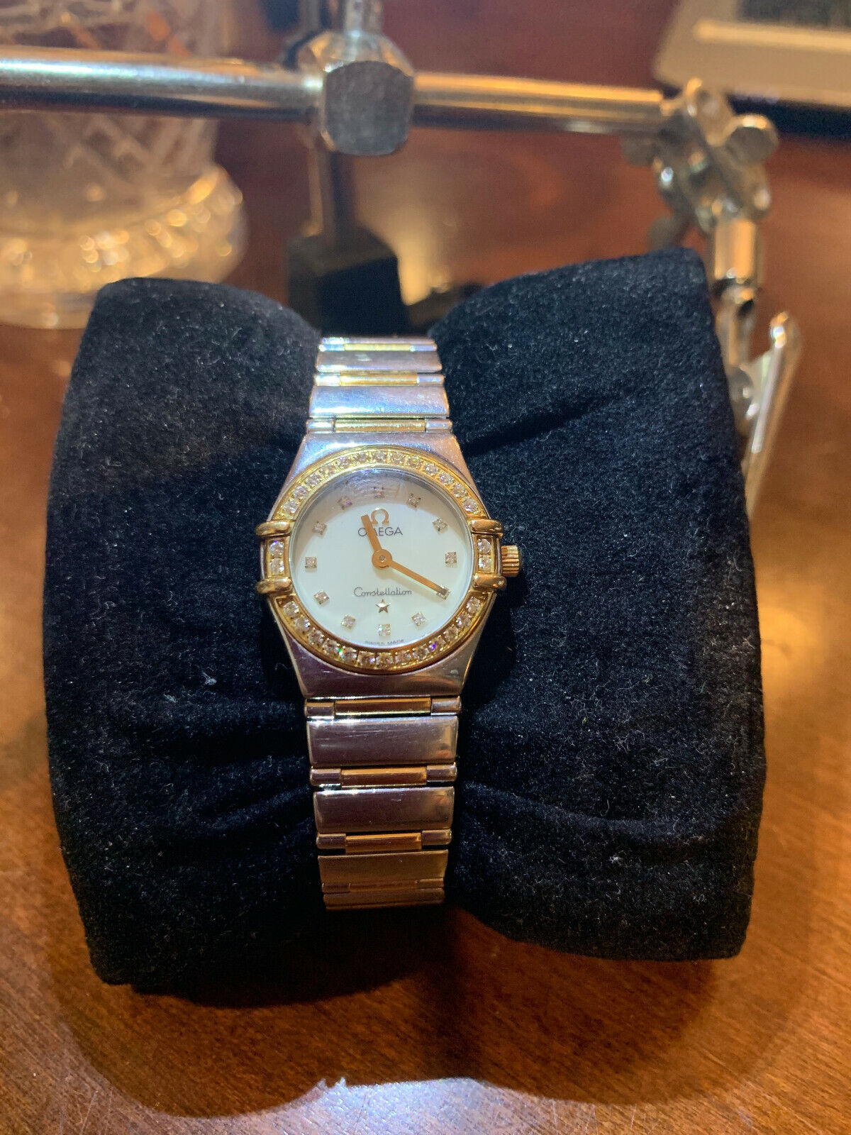 Omega Constellation My Choice1365.75 Wrist Watch for Women mother of pearl