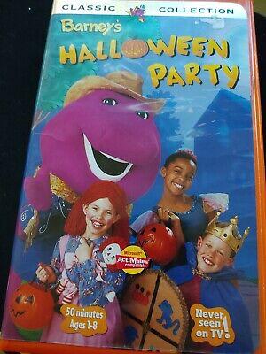 Barney - Barneys Halloween Party (VHS, 1998) - Halloween Party Barney