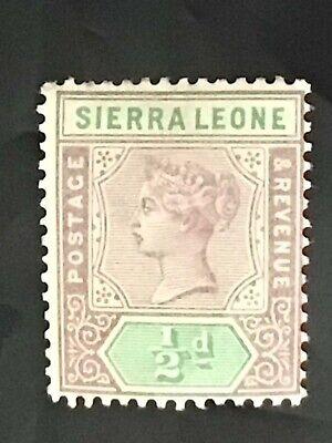 Sierra Leone stamp QV 1897 1/2d lilac MH
