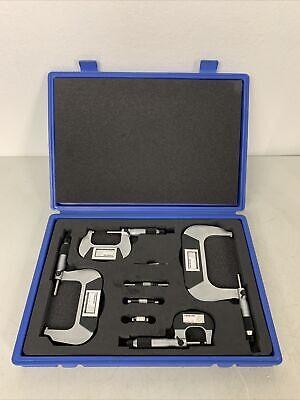 72-229-214-0 Fowler 0-4 Micrometer Set .0001