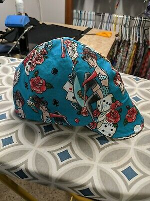 Wendys Welding Hat Made With Lucky Girl Fabric New