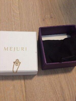 Mejuri chain ring hamsa hand 18k gold size 6