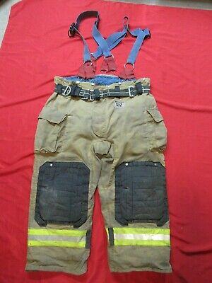 Mfg 2011 Morning Pride Fire Fighter Turnout Pants 48 X 28 Bunker Gear Suspenders