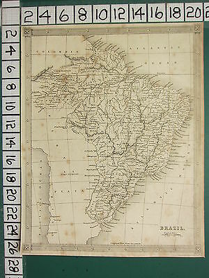 c1830 GEORGIAN MAP ~ SOUTH AMERICA BRAZIL ~ SANTO PAULO GUIANA PARA