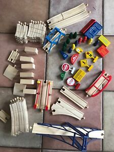 Wooden Train Set Pieces and Accessories