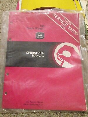 John Deere 100 Stack Wagons Operator's Manual Dealer Service Shop Copy OM-N15945
