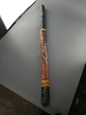 Didgeridoo Hand Painted Australian Aboriginal Folk Art Instrument  34in